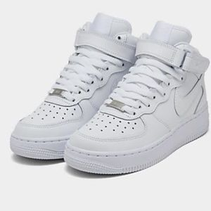 Nike Air Force 1 big kids' mid casual shoes.